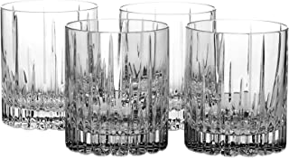 Mikasa Arctic Lights Crystal Double Old Fashioned Glass, 11.5-Ounce, Set of 4