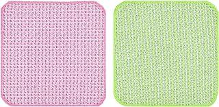 サンコー キッチンスポンジ びっくりフレッシュ キッチンピカイチ ピンクグリーン BO-49