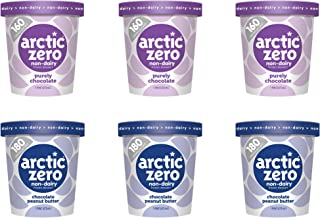 Arctic Zero Non-dairy Purely Chocolate & Chocolate Peanut Butter Pints, 16 Fluid Ounce (pack Of 6)
