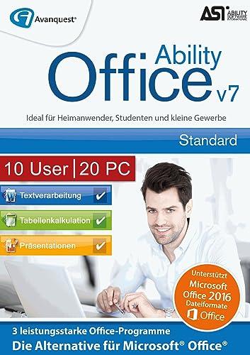 Ability Office 7 - Small Business Lizenz für 10 Benutzer und bis zu 20 PC!  Microsoft 10 8 7 Vista [Download]