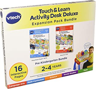 VTech Touch & Learn Activity Desk Deluxe 2-in-1 Preschool Bundle Expansion Pack for Age 2-4