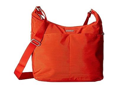 Baggallini Hobo Crossbody with RFID Wristlet (Vibrant Poppy) Cross Body Handbags
