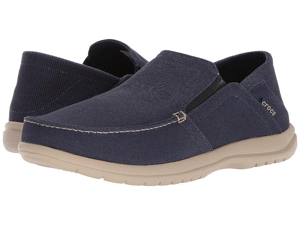 Crocs Santa Cruz Convertible Slip-On (Navy/Cobblestone) Men