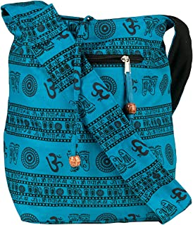 Blue Patchwork Handmade Crossbody Large Hobo Shoulder Bag Hippie Boho Fashion Everyday Unique