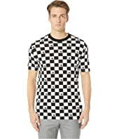 McQ - Dropped Shoulder Checkerboard T-Shirt