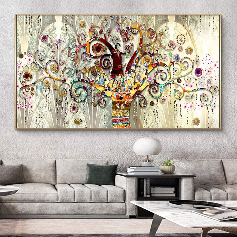 Youhu Topics on TV Tree of Life Abstract Canvas Wall Posters Scandinavian Art Oklahoma City Mall