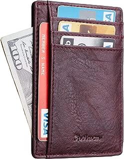Chelmon Slim Wallet RFID Front Pocket Wallet Minimalist Secure Thin Credit Card Holder