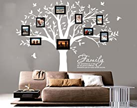 LUCKKYY Grant Family Tree Wall Decal with Family Like Branches on a Tree Wall Decal Sticker Quote(83
