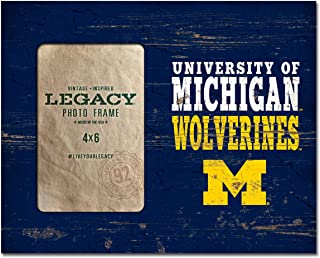 NCAA Fan Shop Michigan Wolverines Legacy 4 x 6 Picture Frame 8x10, One Size, Wood