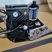 Terra S T56001 Reparaturkit Für Reifenpannen Standardausrüstung Notfallausrüstung Mit Dichtmittel Und Reifenpumpe Geeignet Für Autos Und Andere Kraftfahrzeuge Reparatur In 15 Minuten Auto