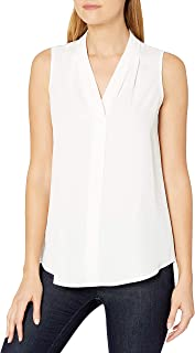 Women's Sleeveless Blouse with Inverted Pleat (Standard and Plus)