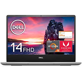 【MS Office Home&Business付き】Dell ノートパソコン Inspiron 14 5485 Ryzen 5 Office シルバー 20Q41HBS/Win10/14.0FHD/8GB/256GB SSD