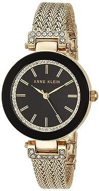 Anne Klein - Reloj de pulsera para mujer con cristales de Swarovski y malla acentuada