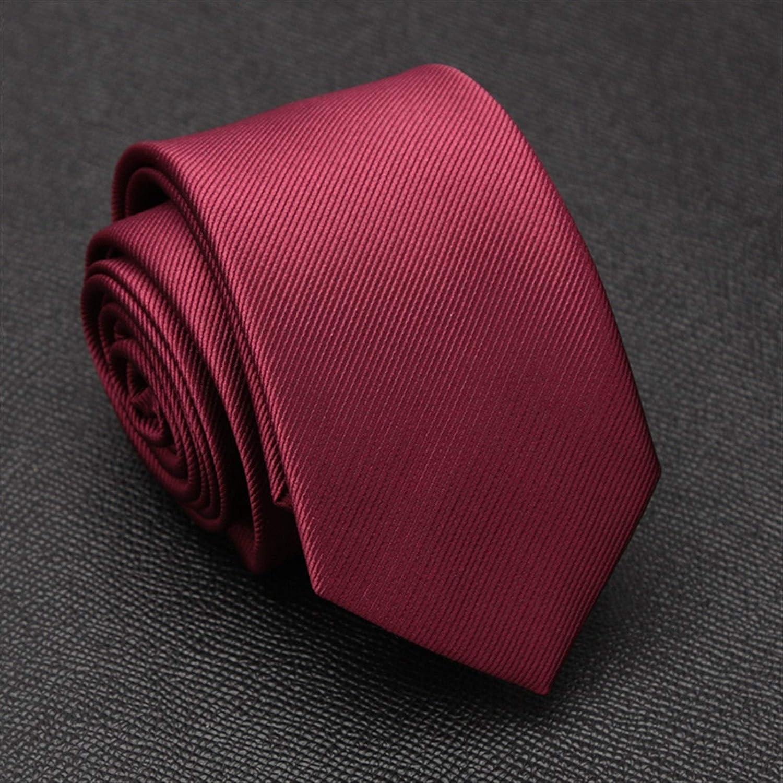 Without Ties Ties for Men Set Mens Cufflinks Cravat Tie Set Fashion Wedding Ties for Men Hanky Necktie Gifts Dress Party Accessories Jacquard Tie (Color : Burgundy)