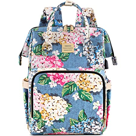 Stylish College School Backpack,Water Resistant Casual Daypack (31x14.5x37cm) Young Surprised Woman Laptop Backpack