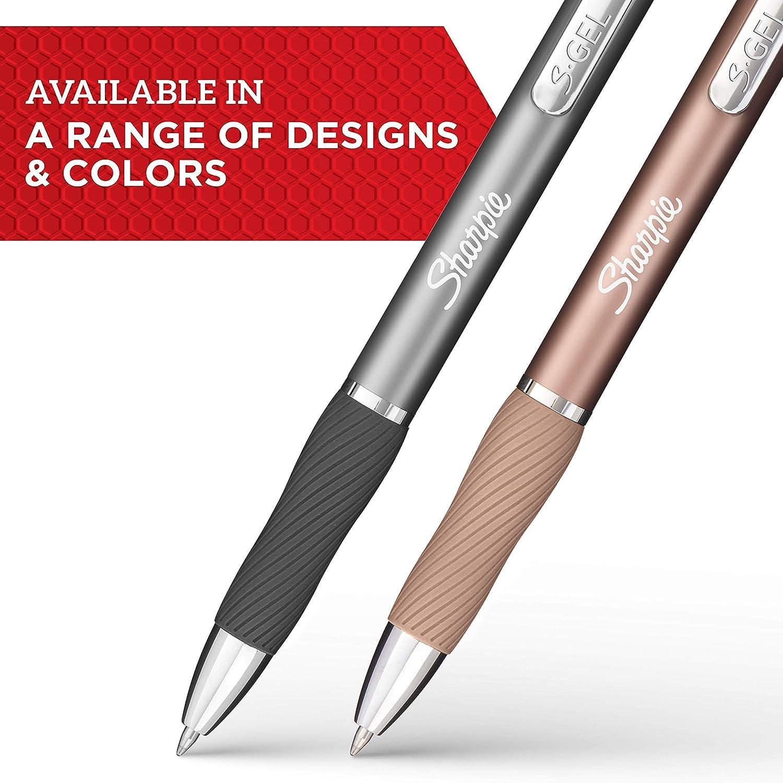 Black Champagne 0.7mm 4-Count Sleek Metal Barrel Medium Point Gel Pens