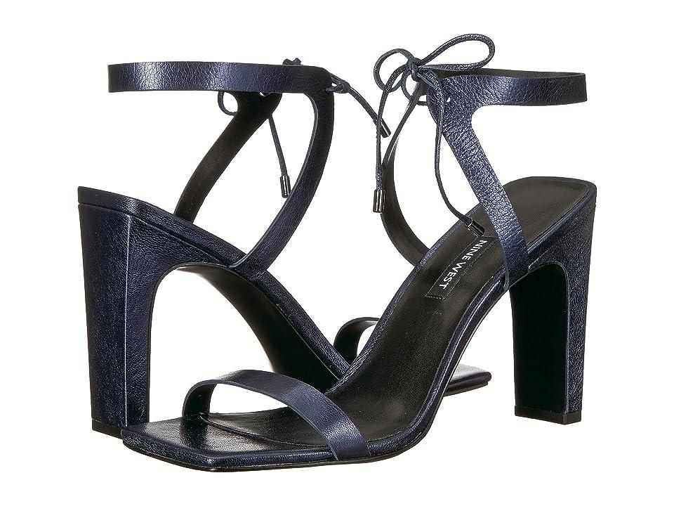 Nine West Longitano Heel Sandal (Navy Metallic) Women