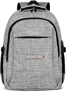 Women's Men's Travel Laptop Backpack Anti Theft Hino-Canada-Logo- Backpack with USB Charging Port College Laptop Bookbags