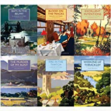 British library crime classics series 9 : 6 books collection set(weekend at thrackley,fire in the thatch,the murder of my aunt,bats in the belfry,blood on the tracks,excellent intentions)