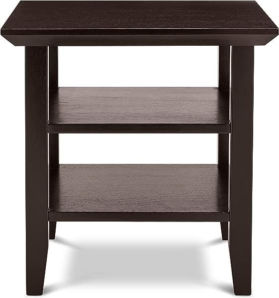 Civet Home TB06 0209 004 SG A06 Double Shelf End Table Black