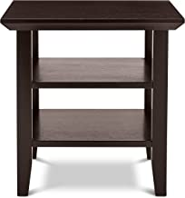 Civet Home Double Shelf End-Table, Tobacco Brown