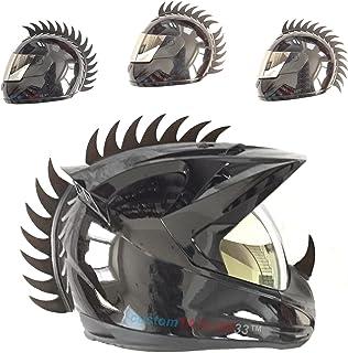customTAYLOR33,&nbspZubeh&oumlr f&uumlr Motorradhelm, Design &bdquoWarhawk/Mohawk&ldquo zum Verzieren des Helms, S&aumlgeblatt aus Gummi Helm nicht im Lieferumfang enthalten