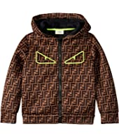 Fendi Kids - All Over Logo Print Zip-Up Jacket (Little Kids/Big Kids)