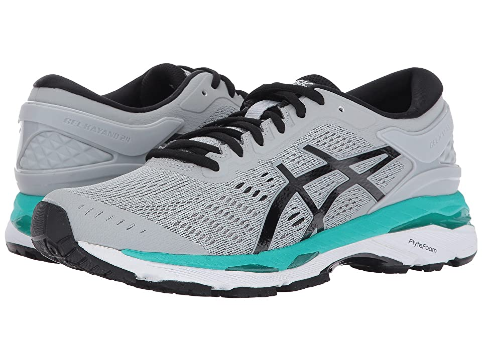 ASICS GEL-Kayano(r) 24 (Mid Grey/Black/Atlantis) Women