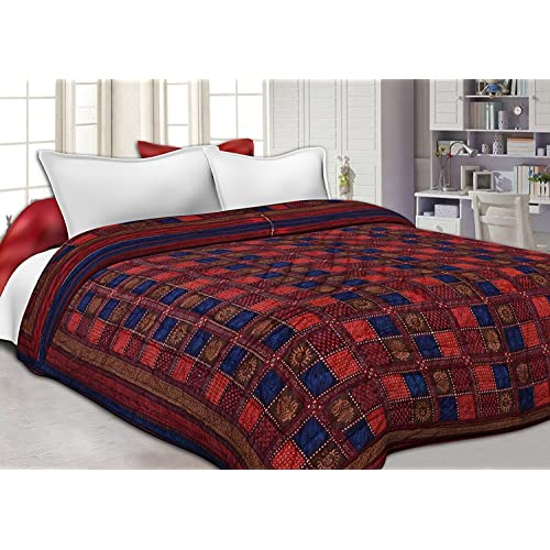 Namaste India Double Bed Size Jaipuri Cotton Printed Winter AC Quilt - (King Size, Multicolour)