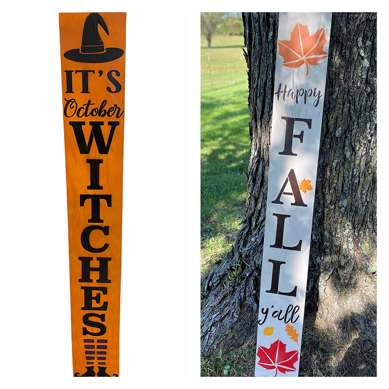 Reversible Porch Sign Ranking TOP3 Halloween Happy Super-cheap Y'all Christmas Fall Merry