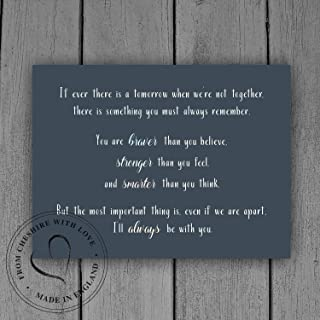 bawansign You are Braver Than You Think Stronger Than U Seem Smarter Than Think Winnie Pooh Christopher Robin AA Milne Baby Nursery Room Sign Plaque