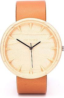 Reloj Madera Mujerm, Swiss Quartz, 42mm, Sostenible Regalo