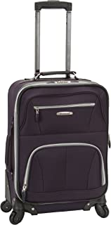 Rockland Luggage 19 Inch Expandable Spinner Carry On, Purple, One Size