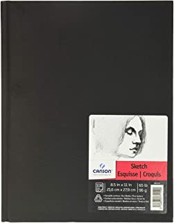 Canson Artist Series Sketch Book Paper Pad, for Pencil and Charcoal, Acid Free, Hardbound, 65 Pound, 8.5 x 11 Inch, 108 Sh...