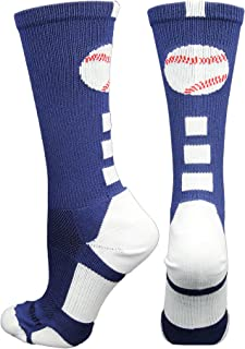 MadSportsStuff Baseball Logo Athletic Crew Socks (Multiple Colors)