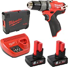 Milwaukee 4933451509 - M12 cpd-602x fuel taladro percutor fuel-sin escobillas 12v, 6,0ah, 0-450/0-1700rpm, 44nm, maletín hd box