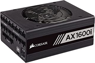 Corsair AX1600i 数字 80 加钛合金全模块 ATX 电源模块 - 黑色