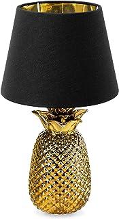 Navaris Lampe LED Forme Ananas - Lampe de Chevet et Veilleuse Design 40 cm en Forme d'Ananas - Lampe de Table Décorative S...