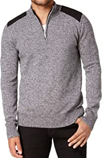 Mens Small Pieced Quarter Zip Sweater