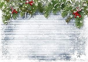 LYXCSM 7X5FT Light Blue Board Christmas Ball Christmas Photography Background Birthday Party Studio Background Vinyl Backg...