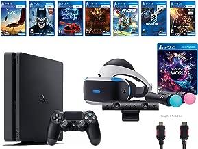 PlayStation VR Launch Bundle 9 Items:VR Launch Bundle,PlayStation 4 1TB,7 VR Game Disc Rush of Blood,Valkyrie,Battlezone,Batman: Arkham VR,DriveClub,Combat League,Eagle Flight