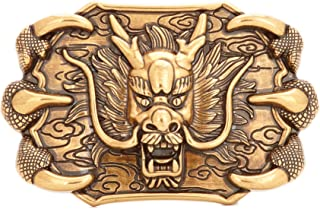 Western Lion Belt Buckle - Bronze Color