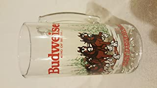 Budweiser Clydesdales Beer Glass Mug 1989 Anheuser-Bush Inc
