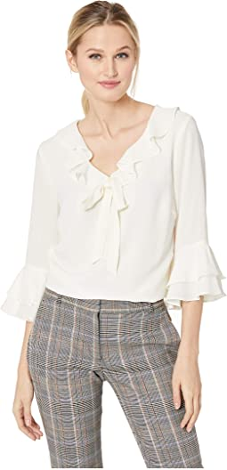 Long Sleeve Ruffled Top w/ Bow