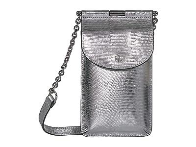 LAUREN Ralph Lauren Phone Bag Crossbody Mini (Silver) Cross Body Handbags