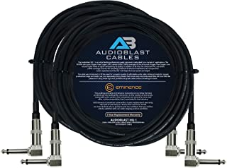 Audioblast - 2 Units - 50 Foot - HQ-1 - Ultra Flexible - Dual Shielded (100%) - Guitar Instrument Effects Pedal Patch Cabl...