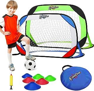 KiddoZone Portable Pop Up Soccer Goals Set,48' x...