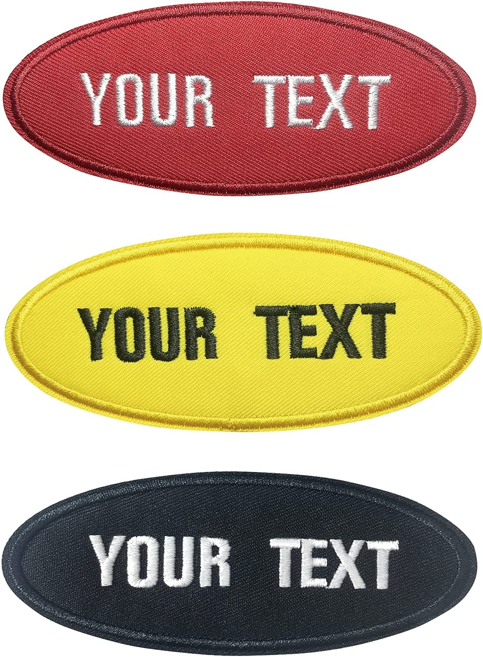 Sale special price MVCEN Custom Name Patches Personalized 2 Pieces T Super-cheap Oval