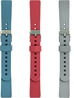 WITHit Designer Silicone Replacement Band for Fitbit Inspire/Inspire HR Band, 3-Pack, Bluestone, Coral and Light Gray – Secure, Adjustable, Fitbit Watch Band Replacement, Fits Most Wrists