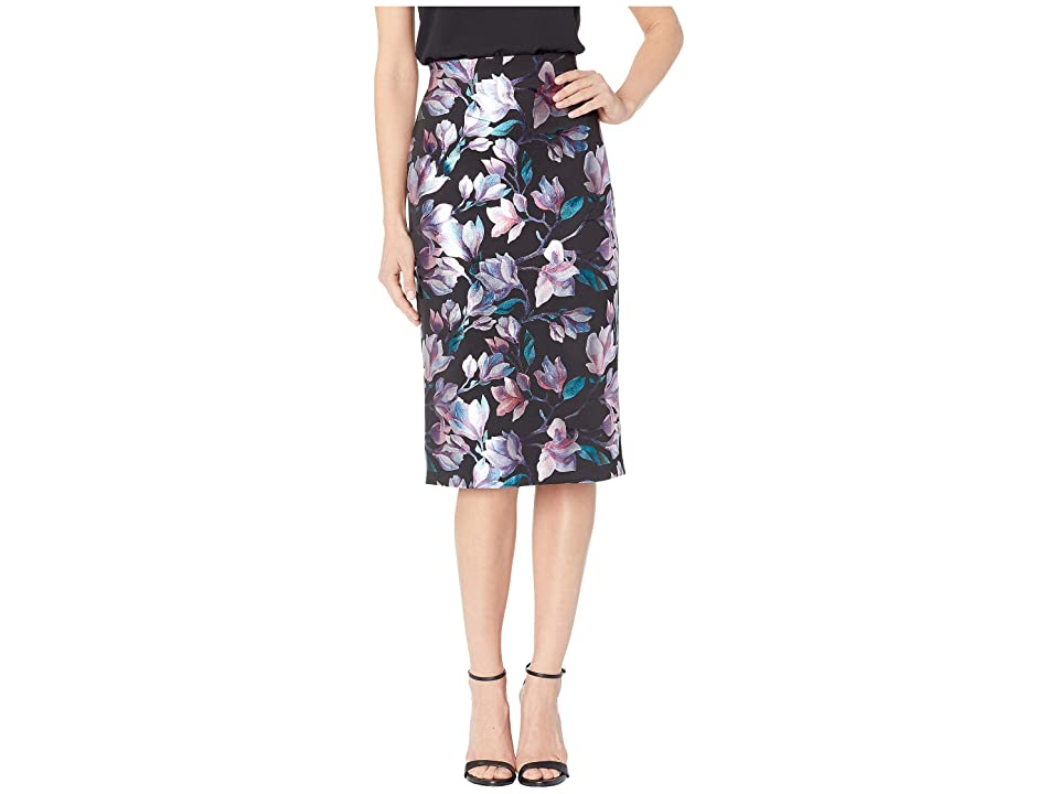 eci Floral Foil Printed Skirt (Black/Purle) Women